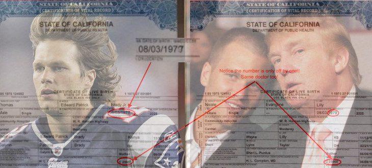 Tom Brady Birth Certificate